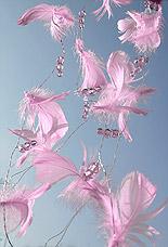 Guirlande Plumes Perles Decoration Mariage Parme