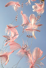 Guirlande Plumes Perles Decoration Mariage Rose