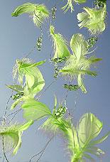 Guirlande Plumes Perles Decoration Mariage Vert Anis