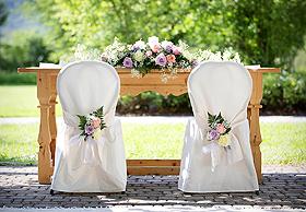 Housse de chaise blanche tissu cérémonie