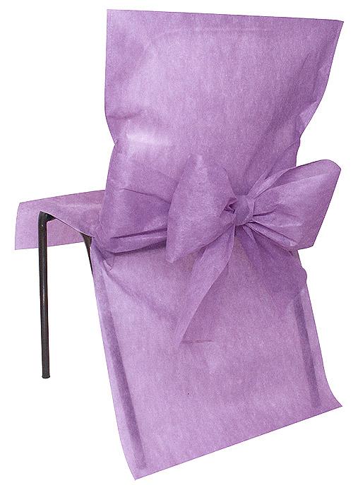 4 housses de chaise intiss avec noeud noel for Housse de chaise carrefour