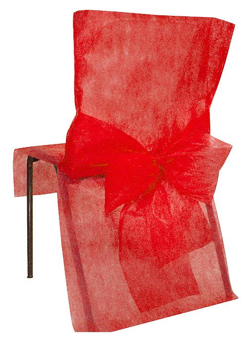 Housse de chaise non tissé rouge
