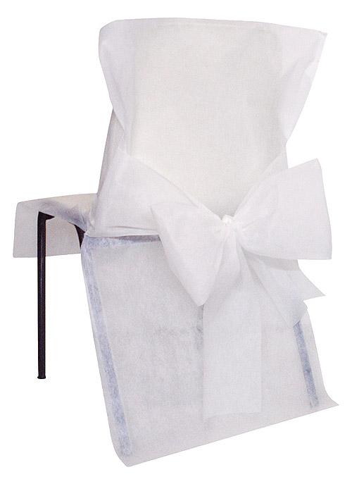 Housses De Chaise Mariage Pas Cher X10 Blanc