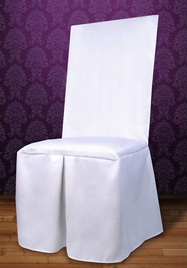 Housse De Chaise Tissu Mariage Pas Cher Blanc