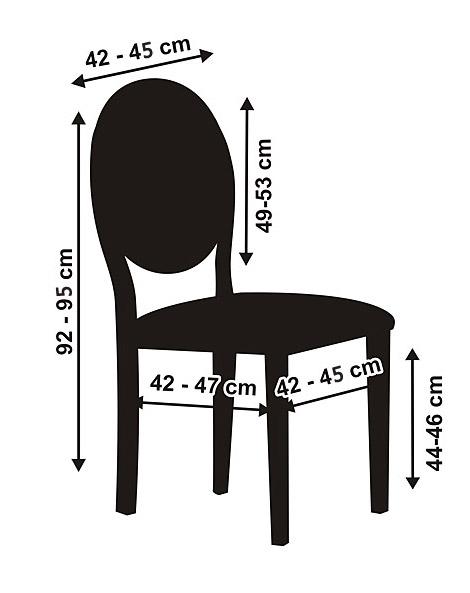 La housse de chaise en tissu luxe bords arrondis noel for Housse de chaise tissu