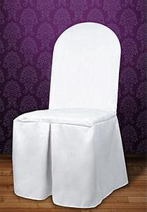 Housse de chaise bord rond
