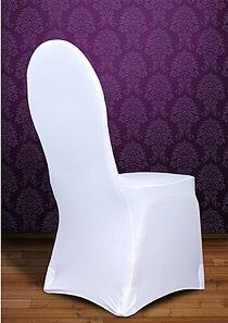 Housse de Chaise Tissu Extensible Mariage Blanc