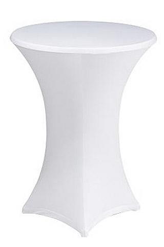 housse pour mange debout extensible spandex blanche d coration de table bapteme. Black Bedroom Furniture Sets. Home Design Ideas