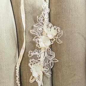 Jarretière Mariage Luxe Perles