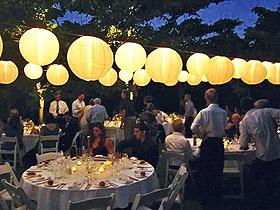 Décoration salle Boule Lampion Lumineuse Piles Mariage