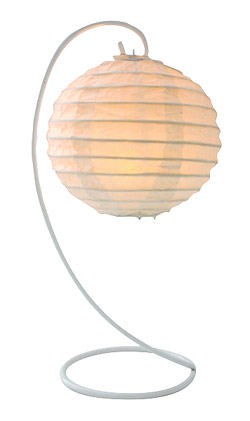 Support Métal Boule Lampion Blanc