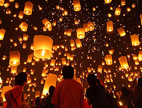 Sky lantern mariage