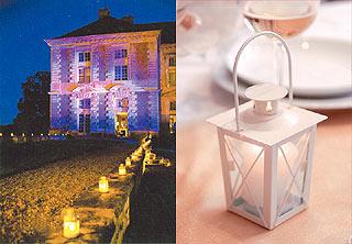 Lanterne Fer Blanc Décoration Mariage