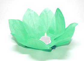 Lanterne flottante lotus Thai verte