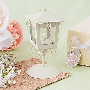 Lanterne en fer forgé pour table