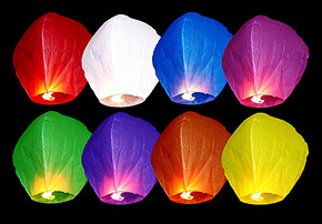 Lanternes Volantes Sky Lantern Multicolor pas cher
