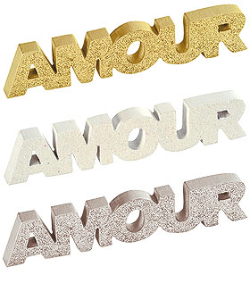 Lettres Amour Pailleté Déco de Table