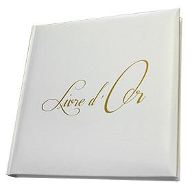 Livre D'or Inscription Dorée