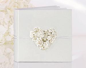 Livre d'Or Mariage Fleurs Relief Nature