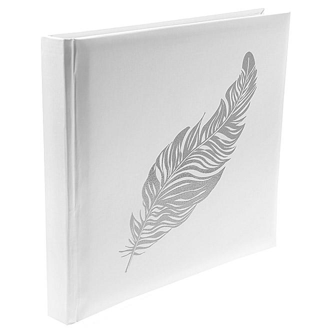 le livre d 39 or blanc plume gris argent avec paillettes. Black Bedroom Furniture Sets. Home Design Ideas