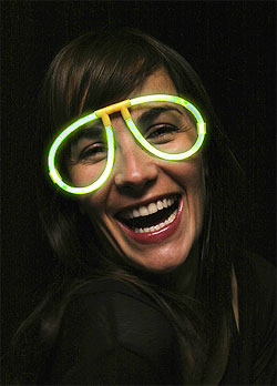 Lunettes Fluo Lumineuses pas cher Vert Anis