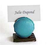 Macarons Porte Noms Mariage x12 Turquoise