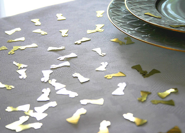 Confettis Décoration de Table Métalliques Brillants Doré