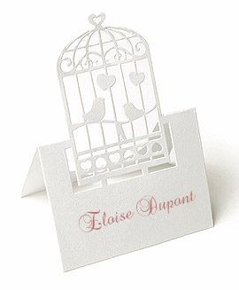 Marque Place Chevalet Découpés Cage Oiseaux Blanc