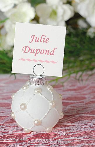 La boule blanche perles nacr es porte nom marque place pinces ardoises - Blanche porte suivi de commande ...