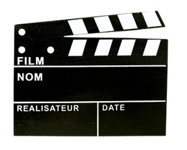 Clap Cinéma Ardoise Marque Place Noir