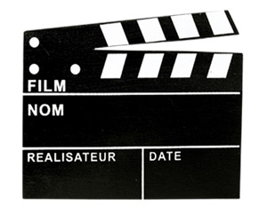 Clap Cinéma Chevalet Marque Table Ardoise Géant Noir