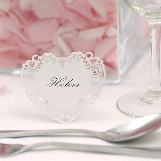 Marque place nom chevalet d coup coeur x10 porte nom mariage original - Marque place mariage diy ...