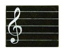 Marques Place Partition Musique Ardoise Noir