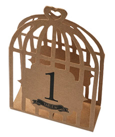 Cages à Oiseaux Kraft Numéros Marque Table