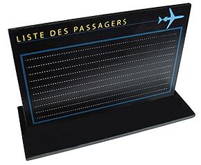 Marque Table Theme Voyage Avion au Départ