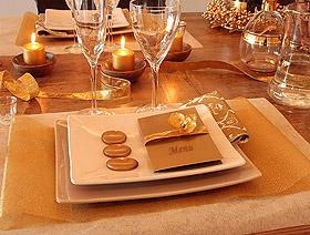 Décoration de Table Mariage Doré