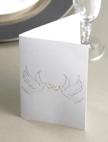 Menus Personnalisables Mariage Blanc Colombes