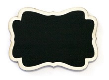 Mini Ardoise Style Vintage Marque Nom Noir