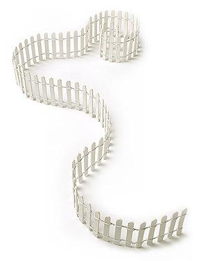 Mini Barrière Poteaux Blancs Décoration Table