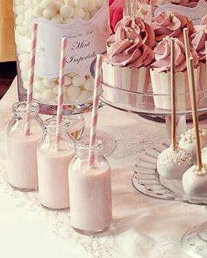 Bouteille de lait Paille Candy bar