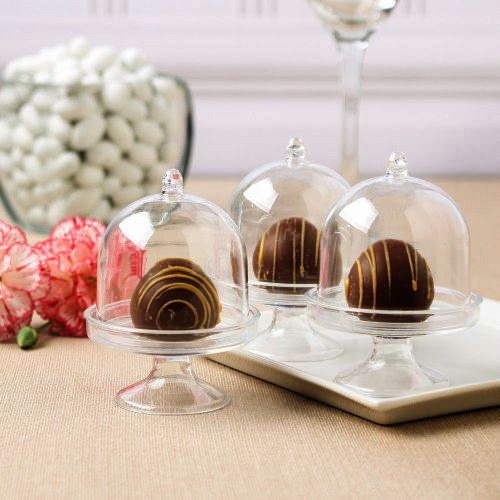lot de 3 mini cloches en pvc transparent nos contenants pour dragees ou bonbons. Black Bedroom Furniture Sets. Home Design Ideas