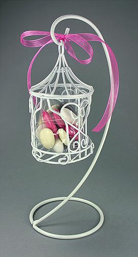 Mini Cage à Oiseaux Métal Contenant Dragées
