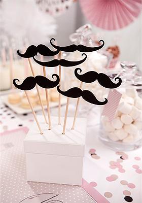 Pic Baton Moustache Photobooth pas cher