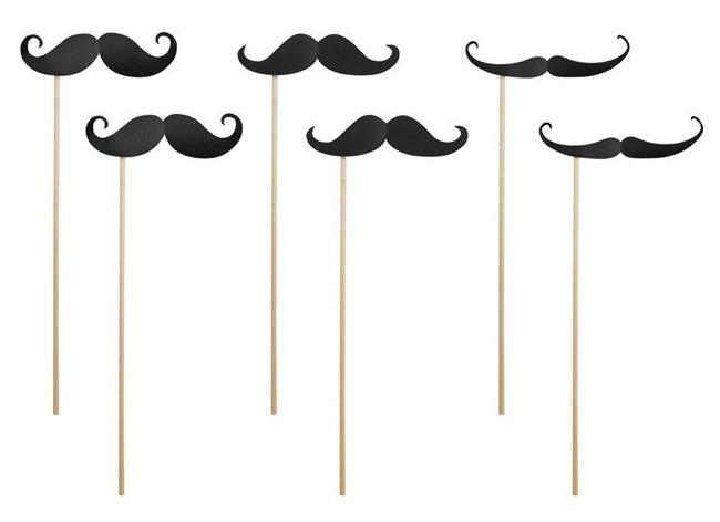 Moustache Noire Pic Baton Photobooth