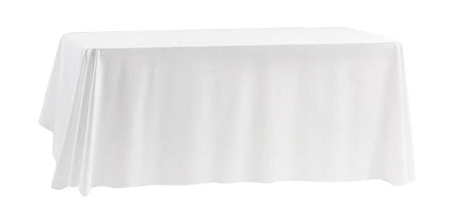nappe rectangle polyester 180x300 blanche d coration de table. Black Bedroom Furniture Sets. Home Design Ideas