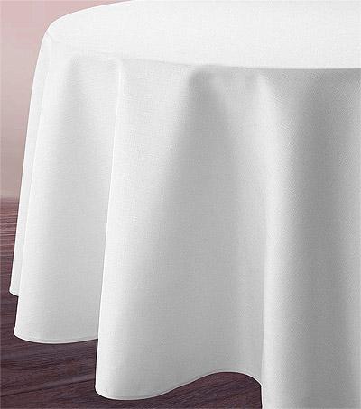 Nappe ronde blanche tissu 3m