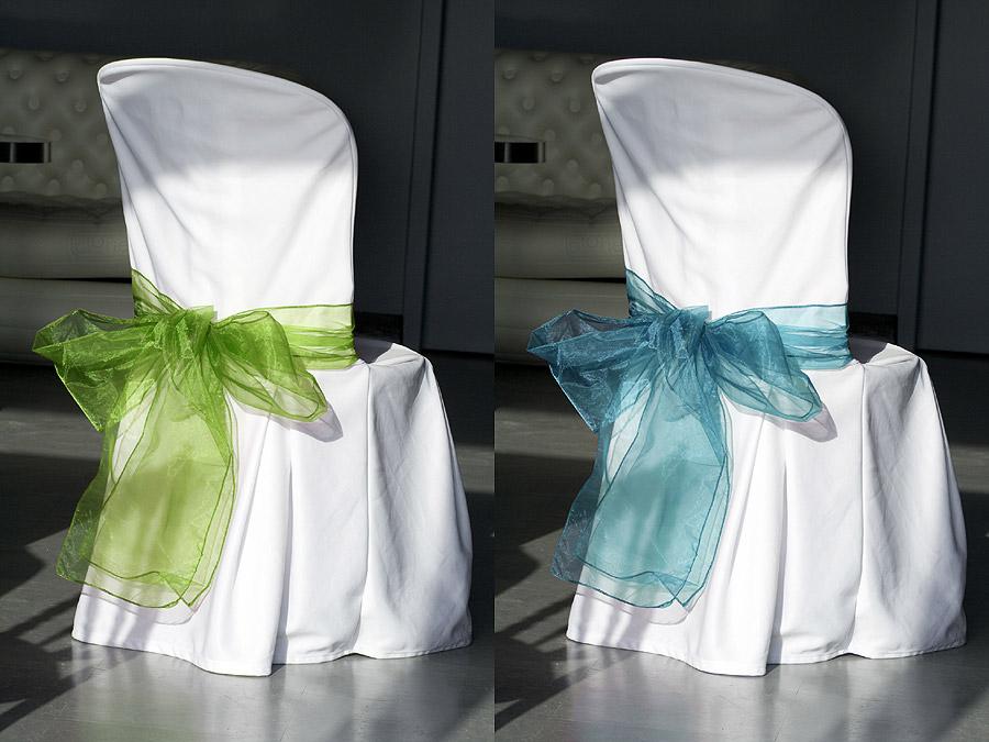 Noeuds De Chaise En Organza Mariage Turquoise Vert Anis