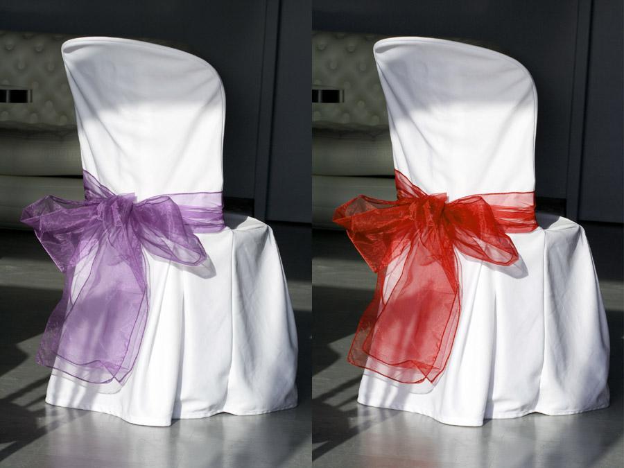 Le lot de 2 noeuds de chaise en organza d coration de - Noeud de chaise organza pas cher ...