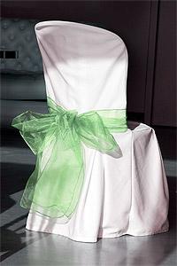 Noeud de chaise organza vert-jade