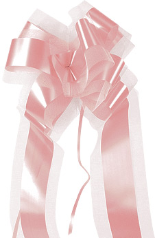 Noeuds Tulle Mariage Rose